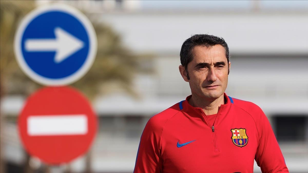 """Valverde: """"Hem canviat el pessimisme del començament per l'optimisme d'ara"""""""