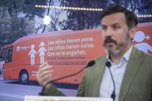 GRA076 MADRID 24 07 2017 - El presidente de la asociacion Hazte Oir Ignacio Arsuaga presenta en rueda de prensa la segunda etapa del autobus HazteOir EFE Luca Piergiovanni