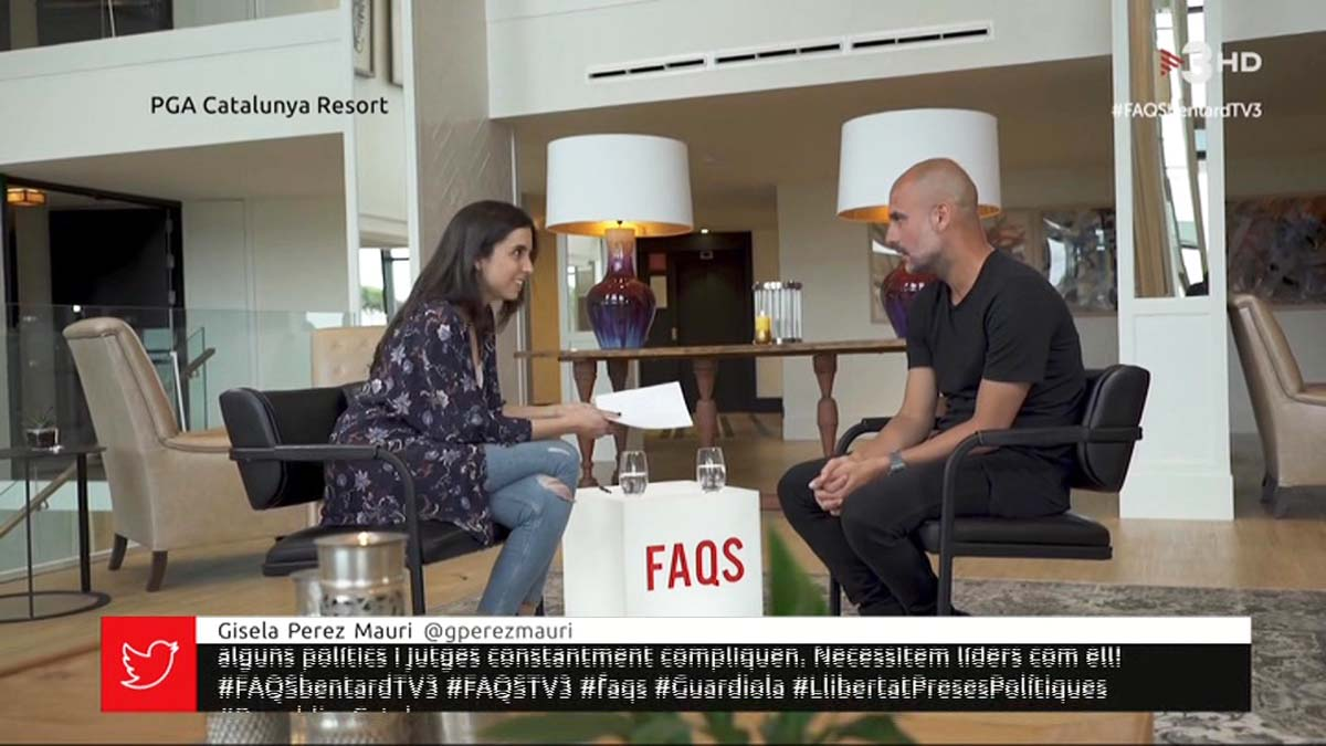 Pep Guardiola entrevistado en FAQS (TV-3).
