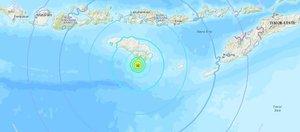 El hipocentro del movimiento telúrico fue localizado a 10 kilómetros de profundidad y a 30,3 kilómetros al suroeste de Nggongi Satu.