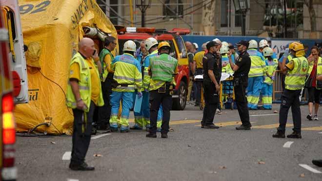Un trabajador fallecido por el derrumbe de un andamio en las obras del Hotel Ritz de Madrid.