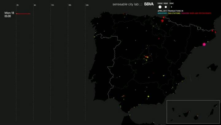 Transaccions financeres a Espanya per Setmana Santa 2011.
