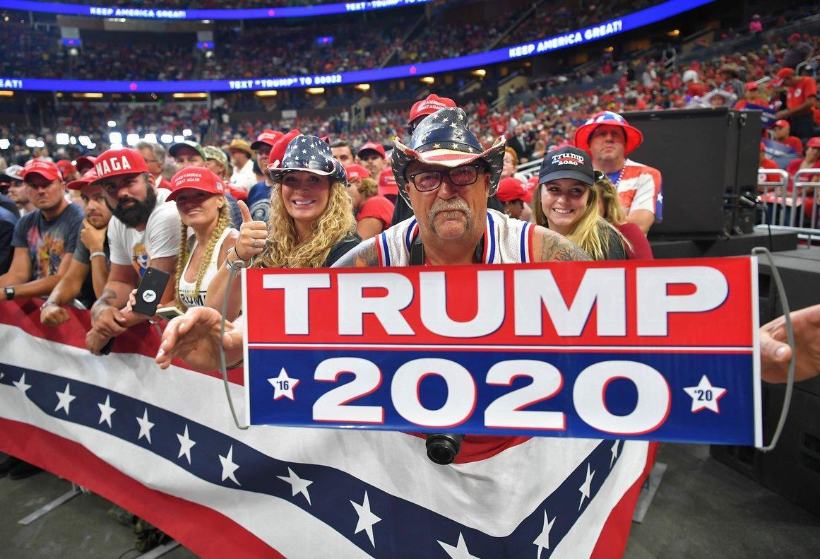 Seguidores de Donald Trump en el inicio de su campaña para lareelección.