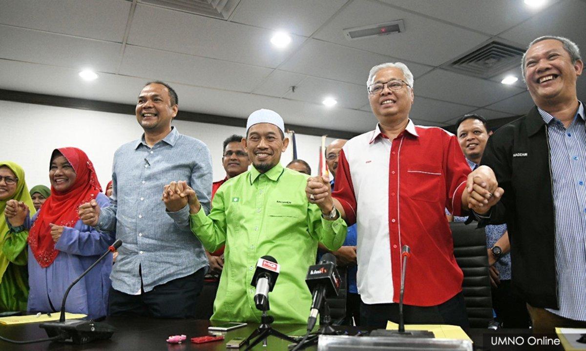 Los líderes de la Organización Nacional de los Malayos Unidos (UMNO).