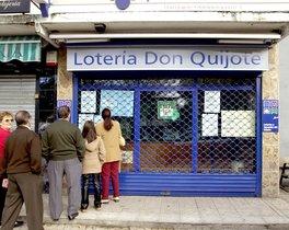 Una administración de loterías en Madrid.