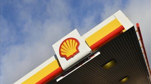 Una estación de servicio de Shell, en Londres.