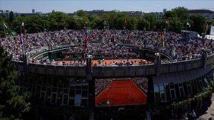 Una imagen de la pista central de Roland Garros en junio del 2019.