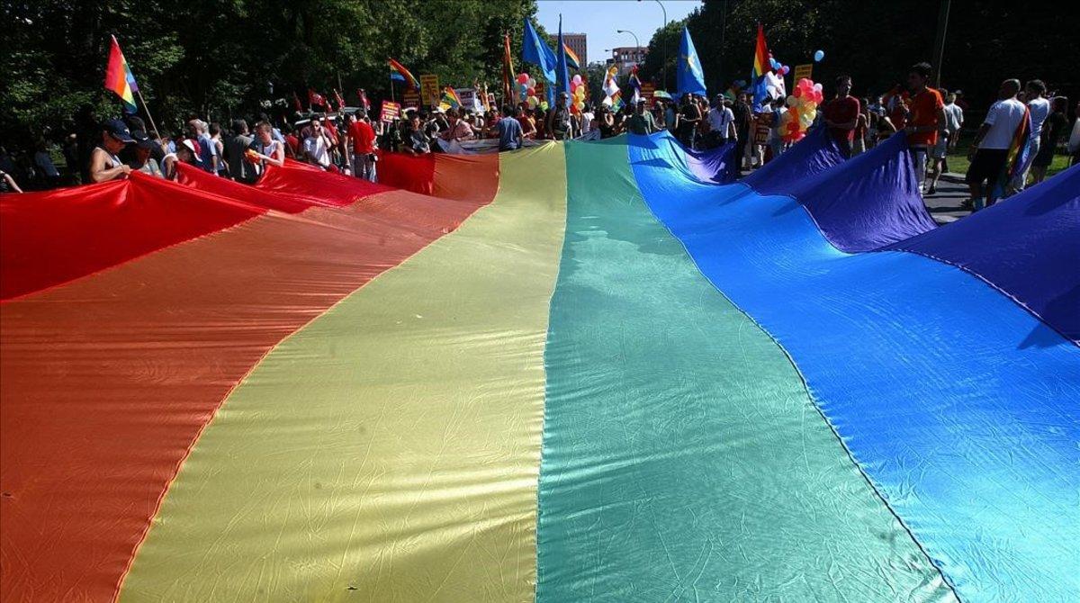 Una manifestación del orgullo gay en una imagen de archivo.
