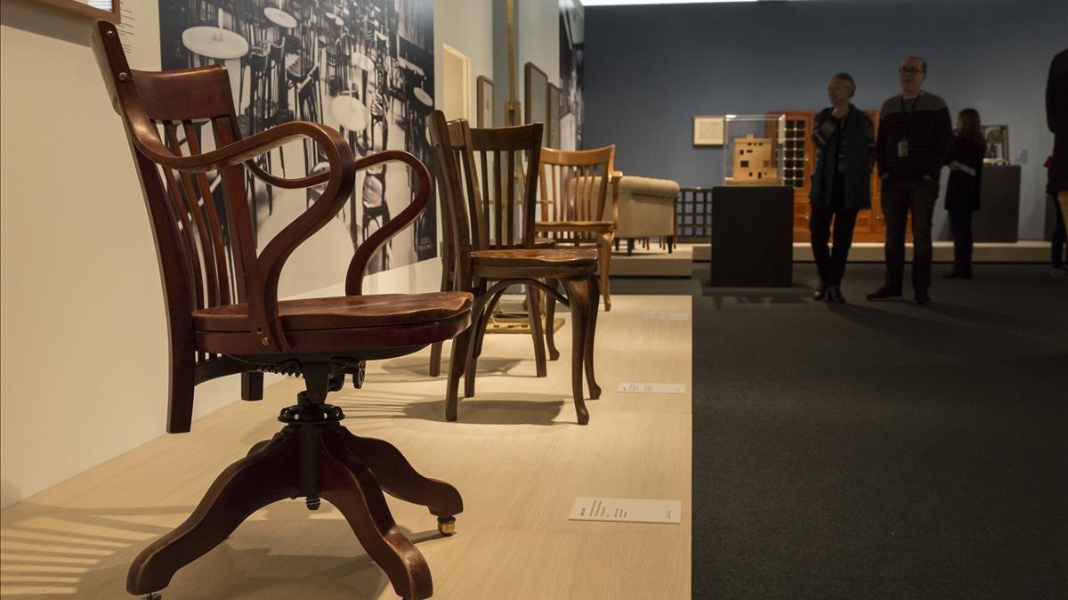 Una sala de la exposición Adolf Loos. Espacios privados, en el Museu del Disseny.
