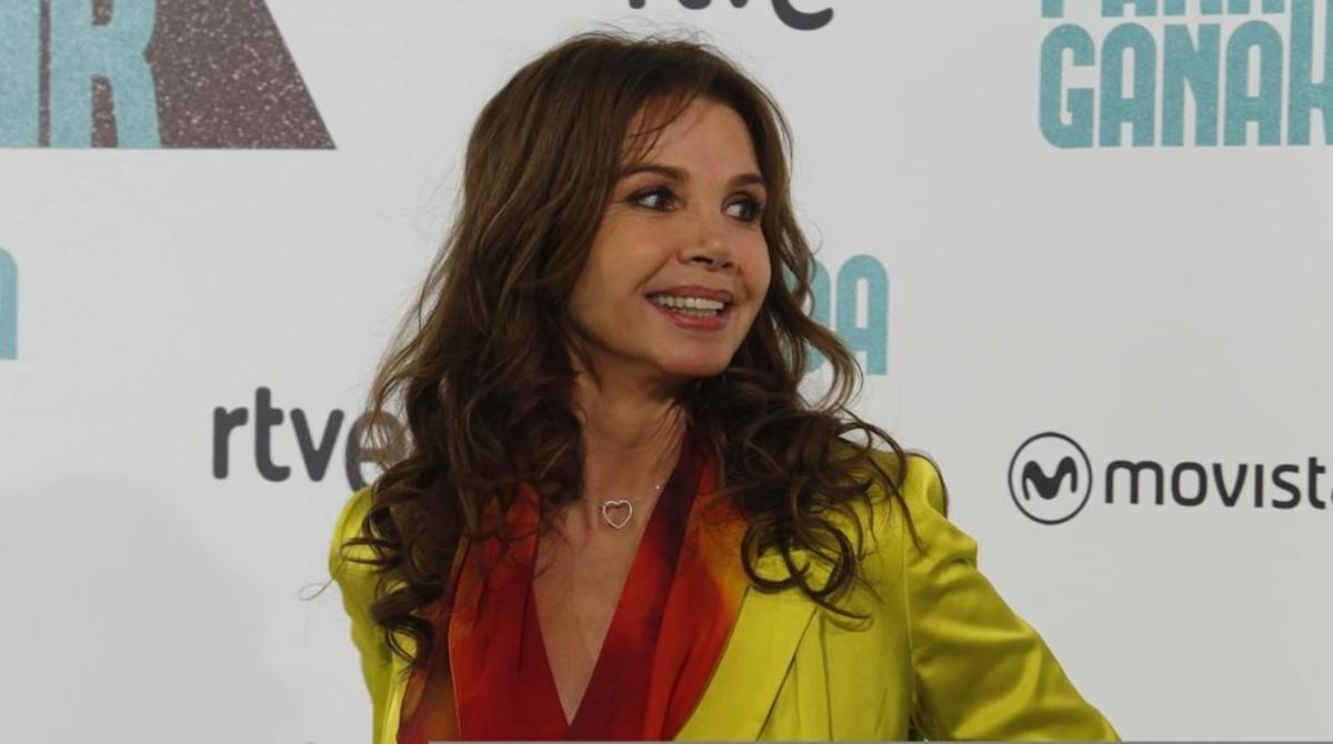 Victoria Abril, fotografiada en la presentación de Nacida para ganar esta semana en Madrid.
