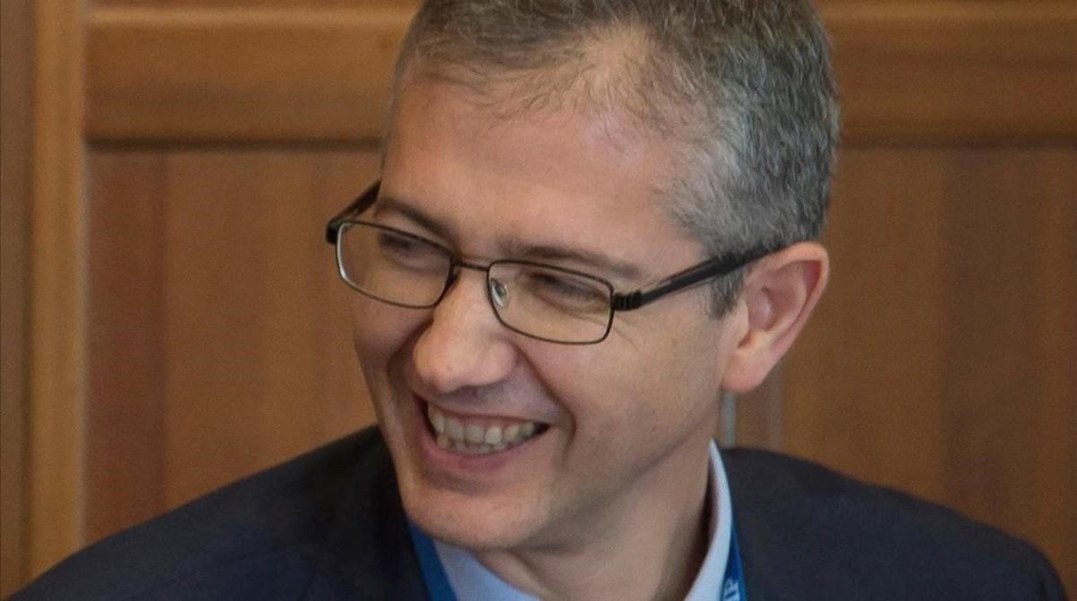 El candidato de Gobierno para el cargo de gobernador del Banco de España,Pablo Hernández de Cos,actual director general de Economía y Estadística del organismo.