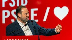 José Luis Ábalos, el pasado miércoles durante un mitin en Palma.