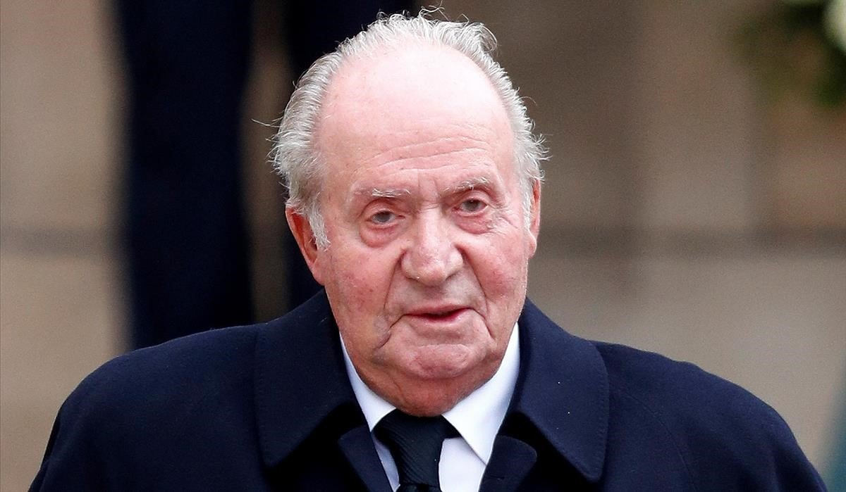 Juan Carlos de Borbón, el 4 de mayo de 2019 en Luxemburgo, durante el funeral por el Gran Duque Jean.