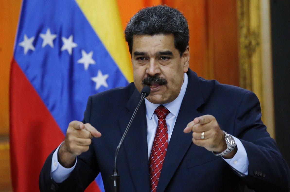 Nicolás Maduro en ua conferencia de prensa en el palacio de Miraflores.AP Photo Ariana Cubillos
