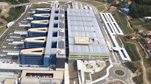 Vista aérea del Hospital Álvaro Cunqueiro de Vigo.