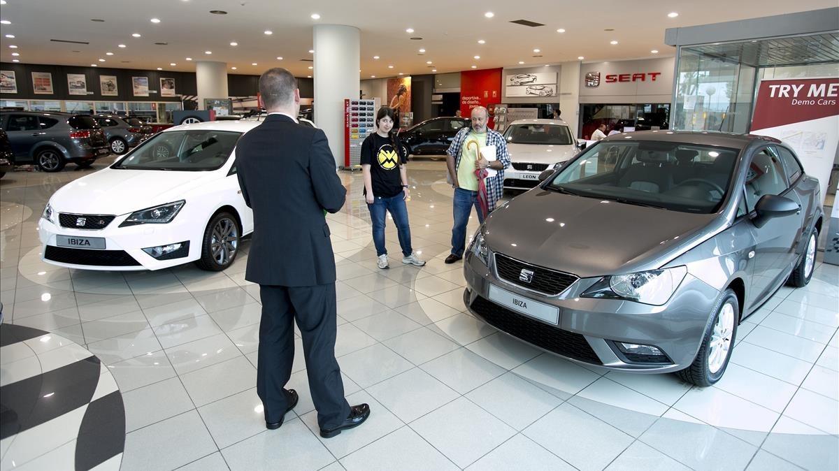 Concesionario de coches en Barcelona.