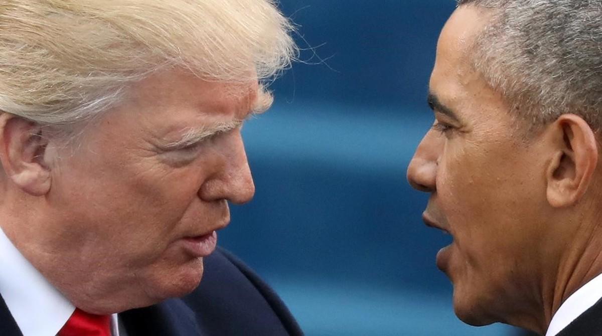 Barack Obama y Donald Trump el 20 de enero de 2017, día de la toma de posesión del republicano.
