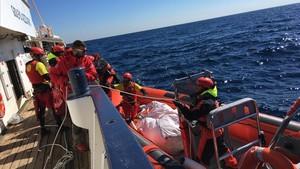 Rescate de Proactiva Open Arms frente a las costas libias.