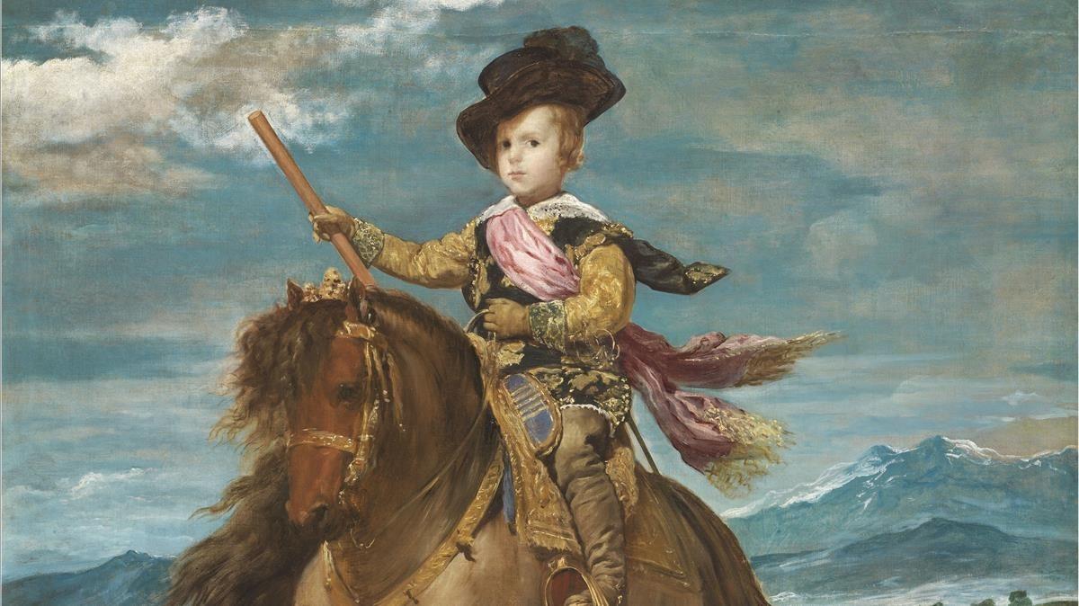 Fragmento del óleo El príncipe Baltasar Carlos, a caballo, (1635).
