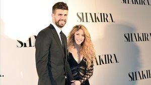 Piqué y Shakira, en un acto de la discográfica de la cantante.