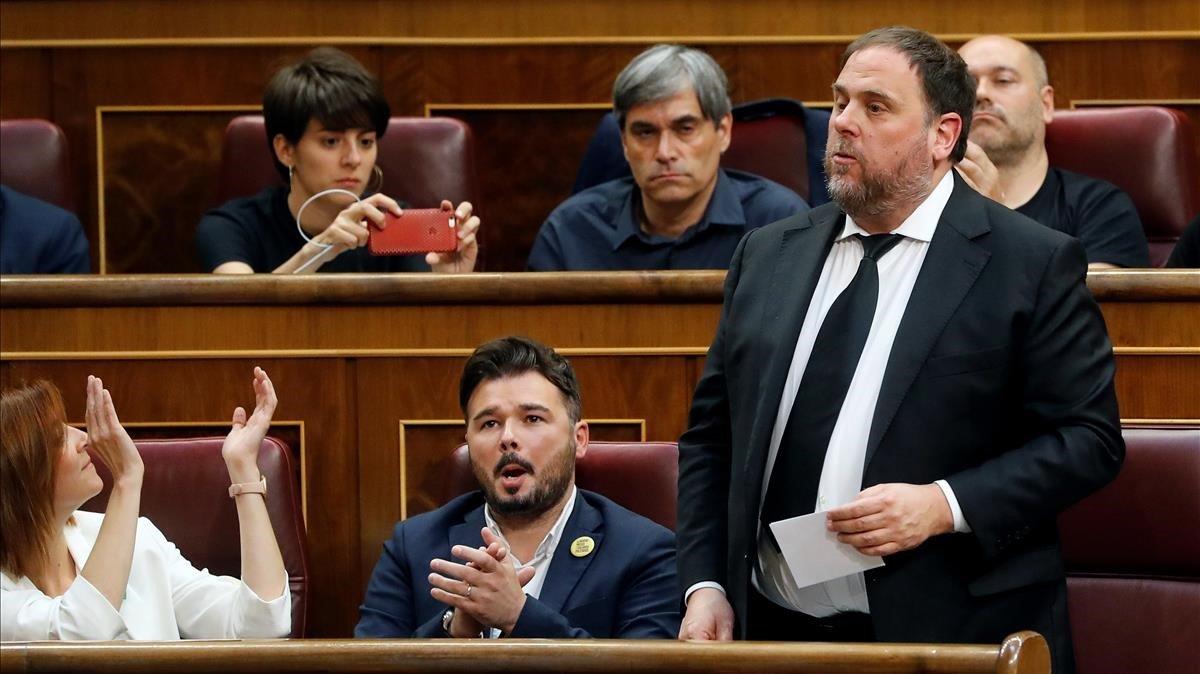 Junqueras, a Pedro Sánchez en el Congreso: