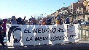 Acto a favor del hiyab que el colectivo celebró el año pasado en Balaguer.