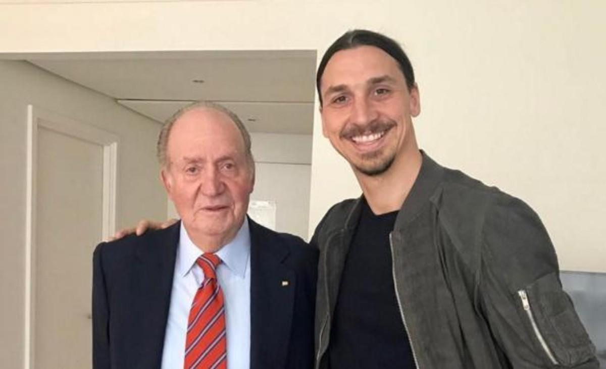 Zlatan Ibrahimovic y el rey Juan Carlos.