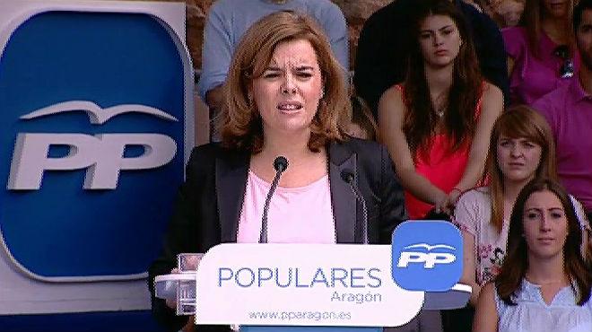 Santamaría le dice a Mas que es presidente de todos los catalanes