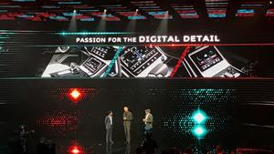 Tecnología digital en el interior del Audi A8.