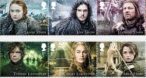 La edición especial de sellos de Juego de tronos sale a la venta el 23 de enero.