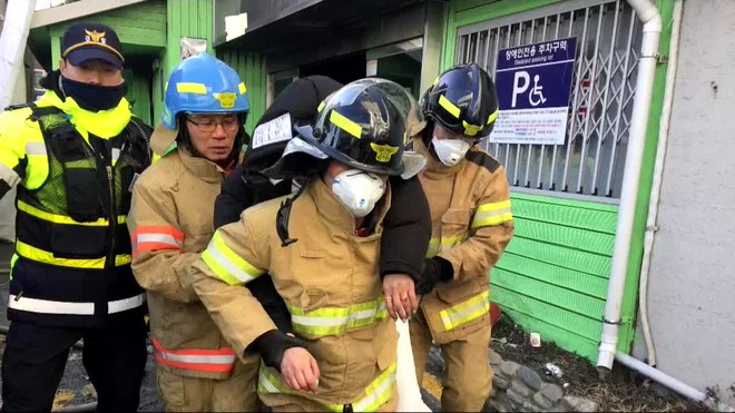 Más de 40 personas murieron en un incendio en un hospital de Corea del Sur