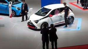 Un Toyota Aygo presentado durante la jornada abierta a la prensa