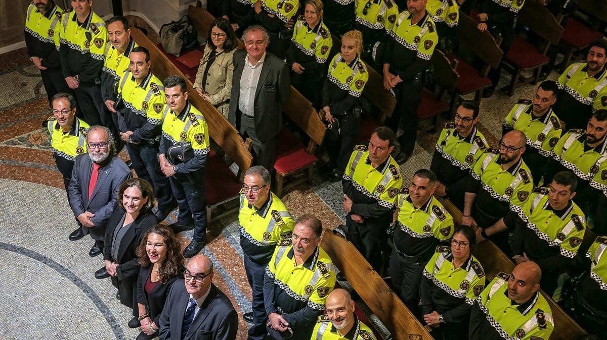 Acto de presentación de los dos nuevos equipos de policías de barrio de la Guardia Urbana, el pasado mes de mayo.