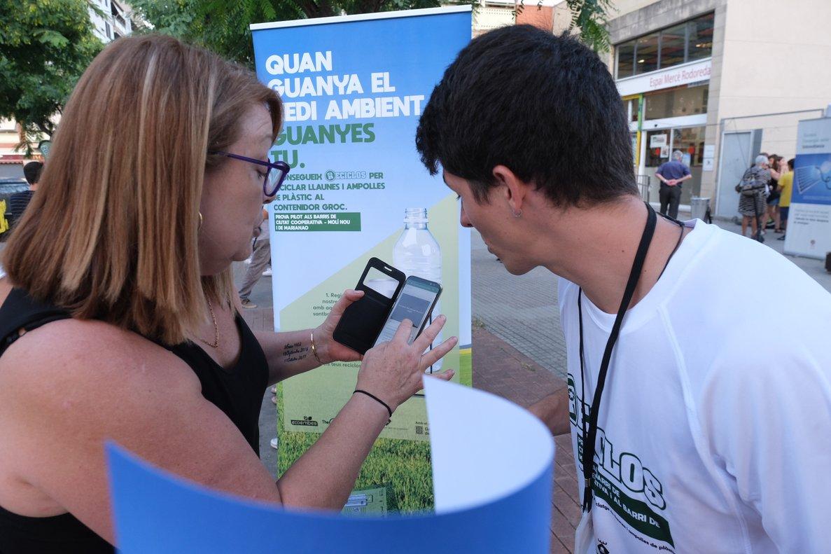 Acto de presentación del proyecto Reciclos en Sant Boi, este miércoles