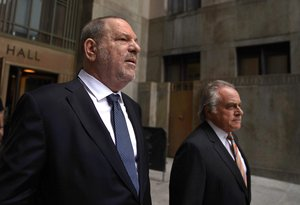 Harvey Weinstein leaves New York Criminal Court with his lawyer Benjamin BrafmanRafter his hearing on his criminal casePhoto by TIMOTHY ACLARYAFP
