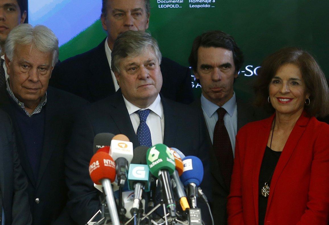 Leopoldo López Gil en declaraciones a la prensa en el 2017.