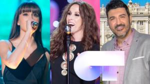 Aitana, Malú y Tony Aguilar, artistas invitadas y cuarto miembro del jurado, respectivamente, de la gala 1 de 'OT 2018'.
