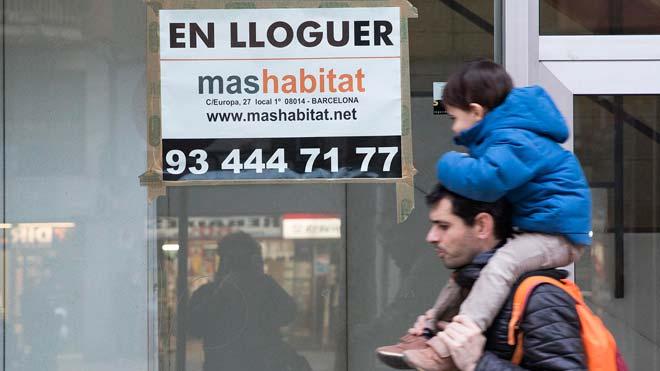 Els grans propietaris hauran d'acceptar quitances del 50% del deute del lloguer