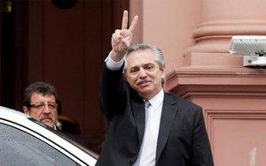 El presidentede Argentina, Alberto Fernández.