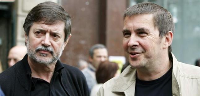 Arnaldo Otegi y Rafa Díez Usabiaga, en una imagen de archivo.