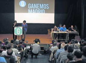 Asamblea constituyente 8Acto de la plataforma Ganemos Madrid, celebrado ayer.