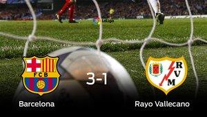 El Barcelona gana 3-1 al Rayo Vallecano en el Camp Nou