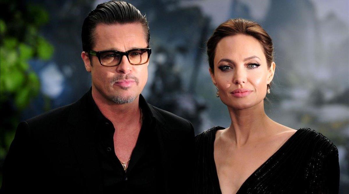 Imagen de archivo de Brad Pitt y Angelina Jolie.