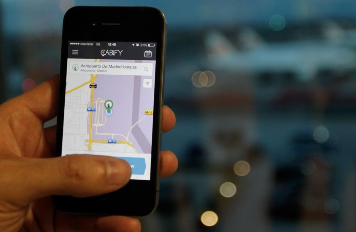 Aplicación de Cabify.