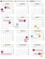 Calendari laboral de Sabadell del 2020 (amb tots els dies festius)