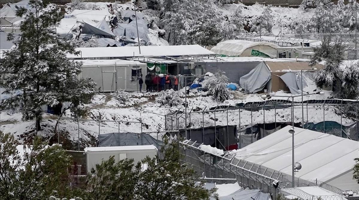 Campamento de refugiados de Moria, en la isla griega de Lesbos.