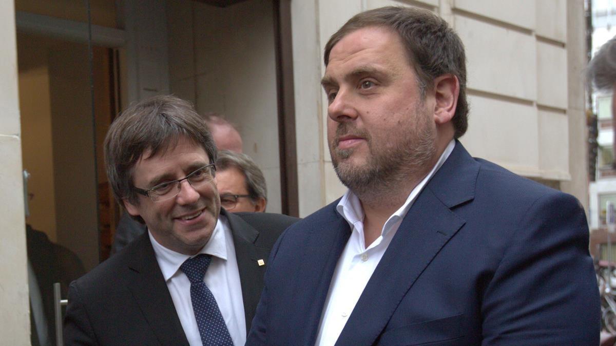 Carles Puigdemont yOriol Junqueras en una imagen de archivo.