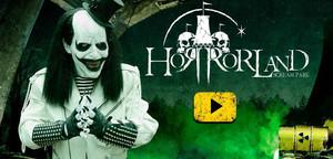 Cartel de Horrorland, el parque temático del terror.