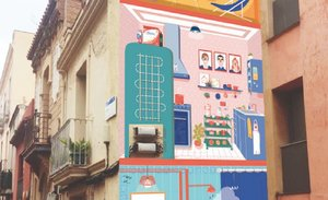 El projecte BAAU omple d'art el nucli antic de Sant Boi de Llobregat