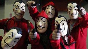 Una imagen de los atracadorescasa de 'La casa de papel'.